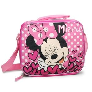 Pink Minnie Mouse Lunch Box. Insulated